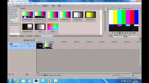 Test Pattern Sony Vegas | how to use test patterns in sony vegas pro 10 youtube