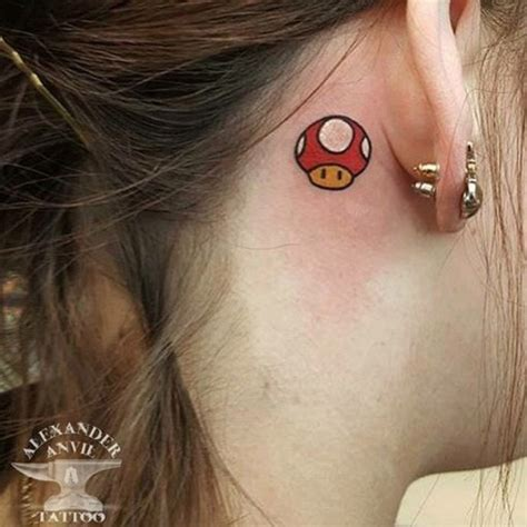 mario mushroom tattoo mario best ideas gallery