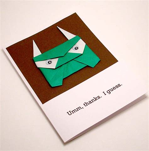 Origami Thank You Card - origami troll thank you card a photo on flickriver