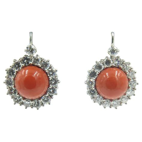 gorgeous coral gold earrings at 1stdibs