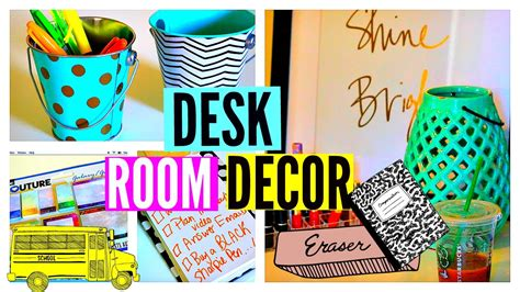 Back To School Desk Organization Back To School Desk Room Decor Desk Tour Organization