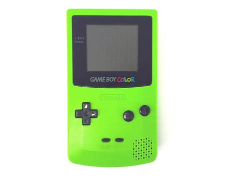gameboy color green nintendo boy color free stock photo