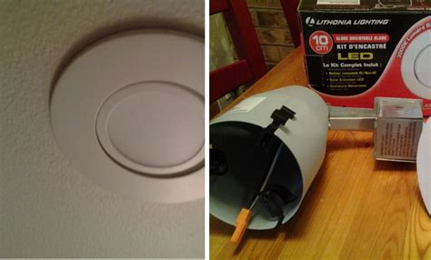 sealing recessed lights from below easily convert a ceiling light into recessed lighting