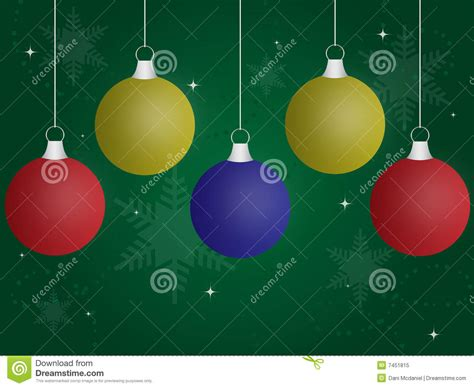 colored christmas ornaments royalty free stock photo