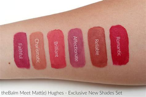Sale The Balm Meet Matte Hughes New Shade Size Ori Usa 100 thebalm meet matte hughes exclusive new shades set the beautynerd