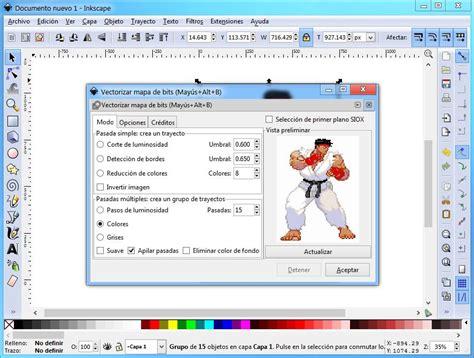 tutorial inkscape vetorização c 243 mo vectorizar im 225 genes con la utilidad gratuita inkscape
