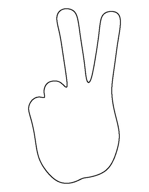 Peace Hand Pattern Use The Printable Outline For Crafts Peace Sign Template