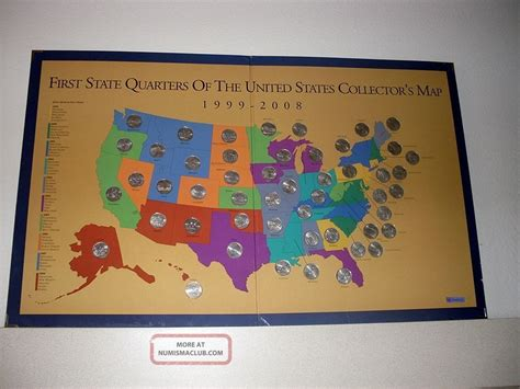 state quarters of the united states collectors map complete state quarters of the united states