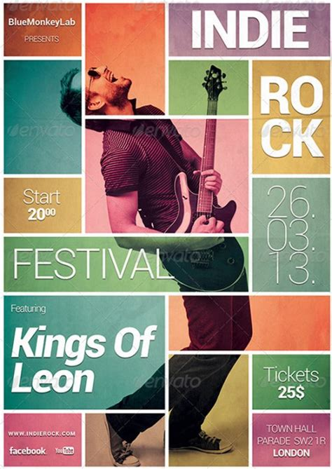 33 amazing gig poster flyer templates vandelay design