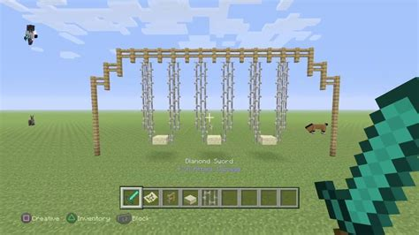 swing minecraft how to make a swing set in minecraft
