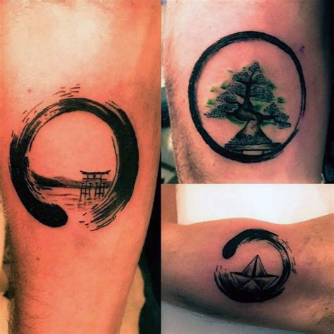 cool small mens tattoos 60 enso designs for zen japanese ink ideas