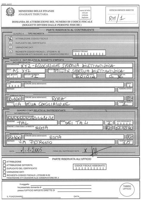 cassetto fiscale modulo richiesta nuovo codice fiscale manuale operativo per l