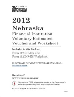 form 1120nf es 2012 nebraska financial institution