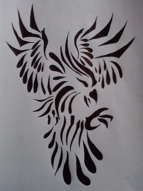 eagle tattoo tribal art tribal eagle tattoo design by gothicblackstar on deviantart