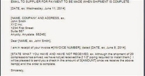 Justification Letter For No Official Receipt Payment Assurance Letter On Receipt Of Materials