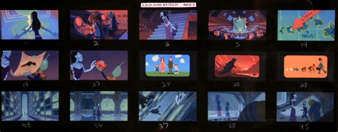 color key walt disney feature animation background paintings