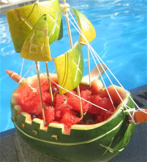 watermelon boat fat and happy blog lesley s watermelon pirate boat