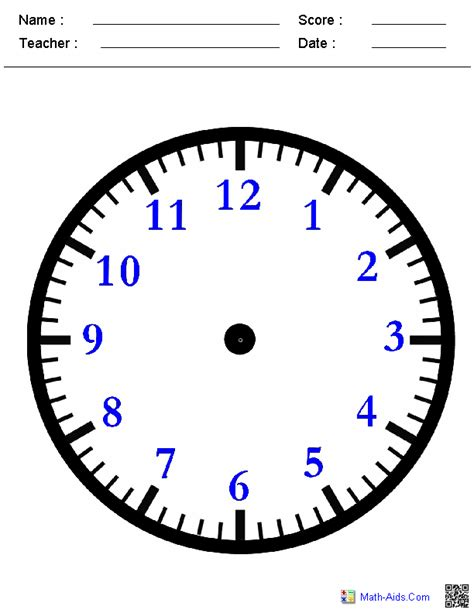 printable clock face for teaching time blank clock face worksheet free worksheets library