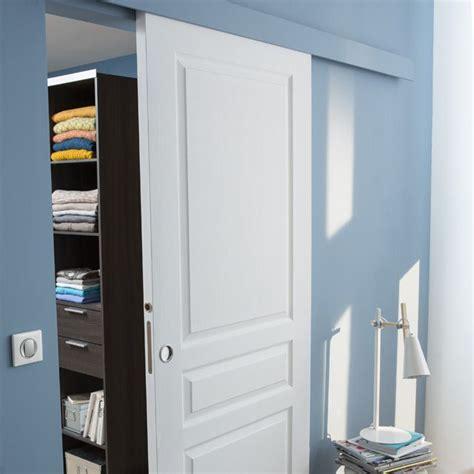 porte de chambre castorama syst 232 me coulissant pour porte en bois castorama