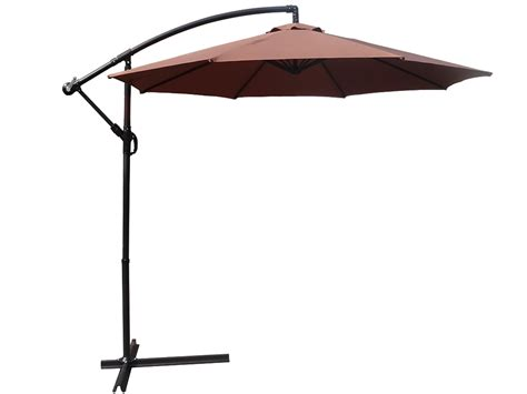 foxhunter 3m garden parasol patio sun shade banana hanging