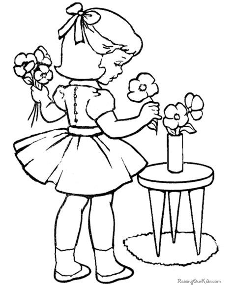 Kindergarten Valentine Coloring Page 042 Coloring Pictures For Kindergarten
