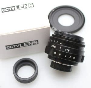 Jual Lensa Manual Sony jual lensa manual cctv 25mm f 1 8 mount sony nex baru