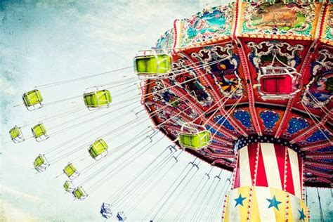amusement park swing amusement park swings carnival ride colorful large 16x24