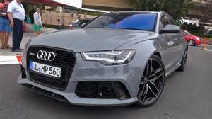 nardo grey audi rs6 avant w audi option sport exhaust