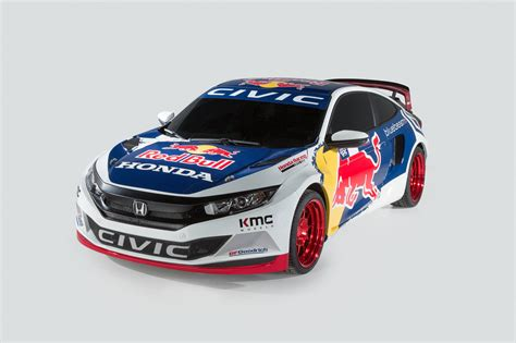 rallycross truck 2016 honda civic coupe red bull global rallycross race car