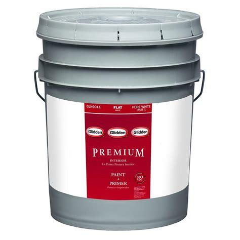 home depot paint colors glidden glidden premium 5 gal white flat interior paint gln9013