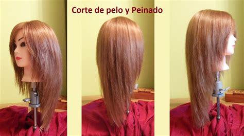corte en v con capas corte de pelo en capas v largo corte en cascada capas