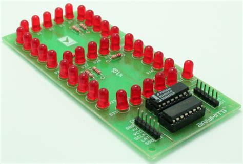 8 Digit Led Display 7 Segments 74hc595 Color Merah misc projects circuit ideas i projects i schematics i