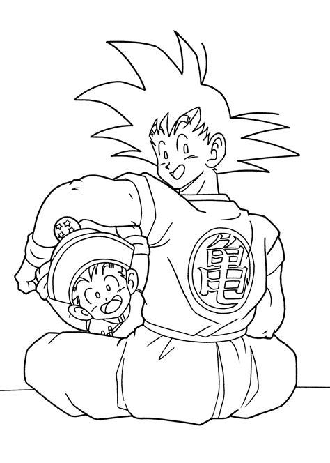 Dragon Ball Anime Goku And Gohan Coloring Pages For Kids Z Gohan Coloring Pages