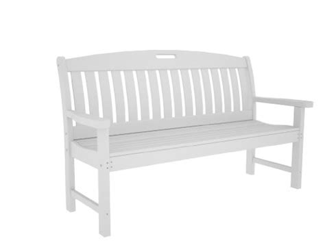 white plastic bench modern patio furniture polywood outdoor furniture