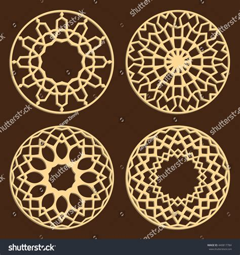 laser cut islamic pattern diy laser cutting patterns islamic die stock vector