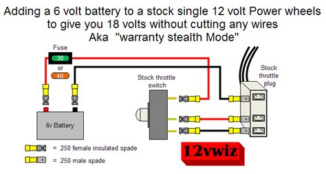 power wheels 18 volt wiring diagram get free image about