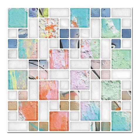 peel and stick wall covering 3d decorative peel and stick tiles for kitchen backsplash