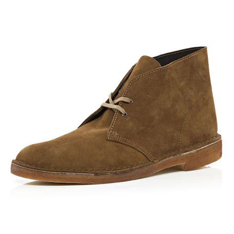 river island brown clarks originals suede desert boots in