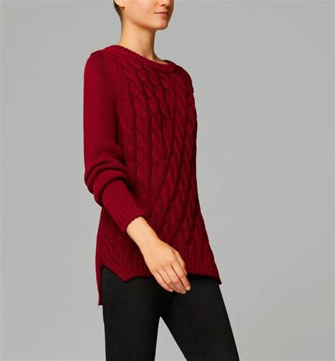 Sweater Massimo Dutti Cable Knit Sweater With Bow At The Back Endource