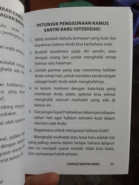 Kamus Santri Baru buku saku kamus santri baru hafal 1 000 kosakata toko muslim title