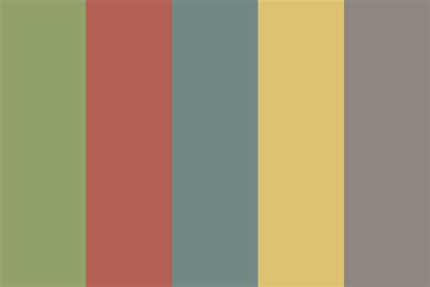 vintage 2015 color palette
