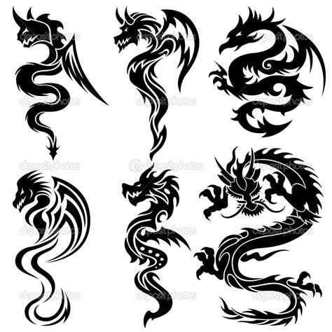 dragon tribal tattoo design in gallery tribal tattoos