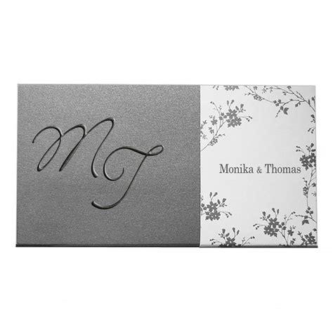 Exklusive Len Designer by Exklusive Hochzeitskarte Nr 1 Box In Anthrazit Mit