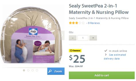 Sealy Nursing Pillow by Walmart Canada Clearance Deals Sealy Sweetpea 2 In 1