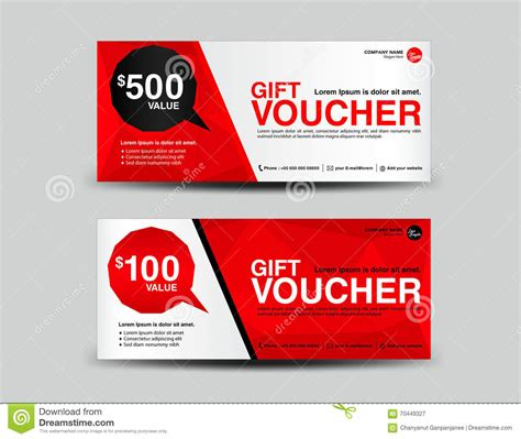 red gift voucher coupon design ticket banner cards