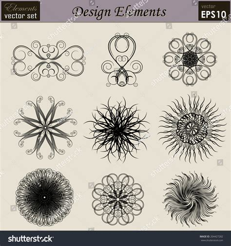 Shutterstock Design Elements And Layout | vector set calligraphic design elements and page