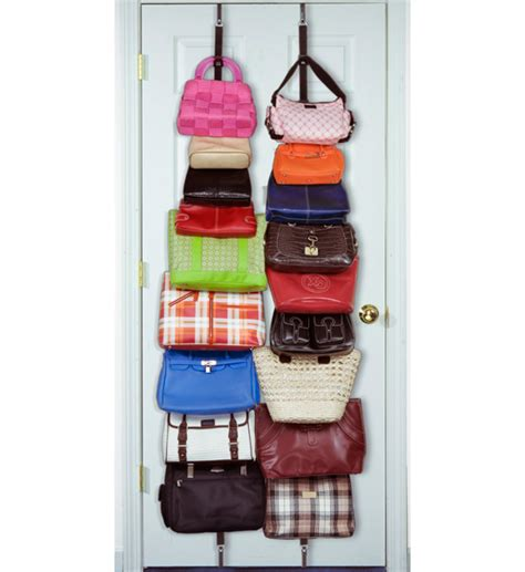 over the door purse rack over the door purse organizer set of 2 in purse organizers