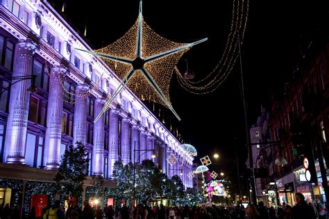 oxford street christmas lights turn on icoolkid