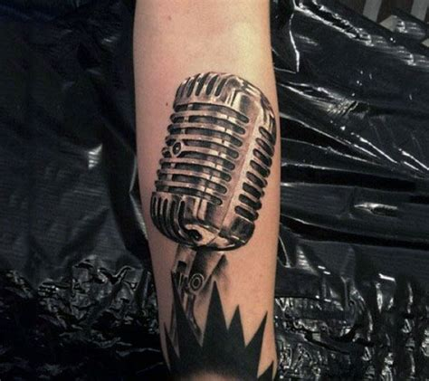 microphone realistic tattoo 90 microphone tattoo designs for men manly vocal ink