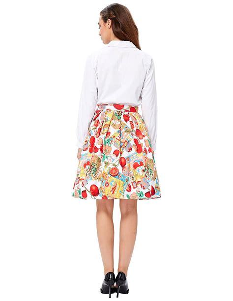 vintage swing skirt vintage fruity floral swing skirt 1950sglam